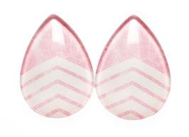 Tropfen pinke white Stripes