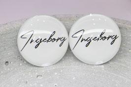 Ingeborg Ohrring weiß