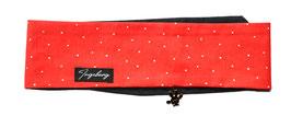 Haarband Bandana Rot Punkte schwarz