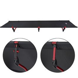 ALPIDEX Ultraleichtes und kompaktes Feldbett / Campingbett