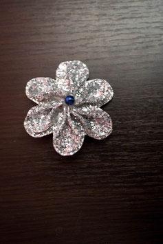 Collection Hiver – Barrette petite fille en fleurs en tissu