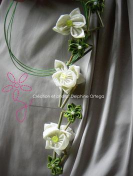 Collection Ludivine. Bouquet de mariée original orchidées cascade moderne