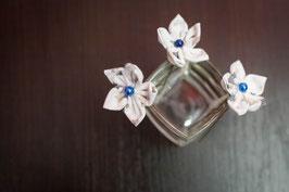 Collection Hiver – Épingles à chignon mariée fleurs en tissu