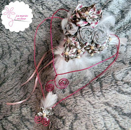 Collection Annabelle. Bouquet de mariée original coeur