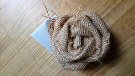 Collection Magali. Boutonnière cortège originale en origami pour mariage naturel en coton blanc, toile de jute et origami papier kraft