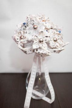 Collection Hiver – Bouquet de mariée en fleurs en tissu