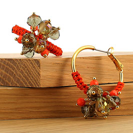 Boucles d'oreilles Lola - Orange