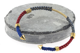 Bracelet Lola | Gris x Rouge x Bleu marine