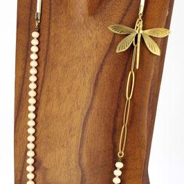 Collier *Libellule | Perles Nude*