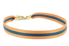 Collier Choker Ligné | Orange