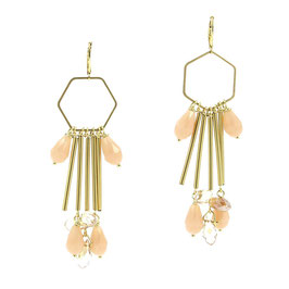 Boucles * Hexagone Big | Nude *
