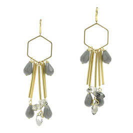 Boucles * Hexagone Big | Gris *
