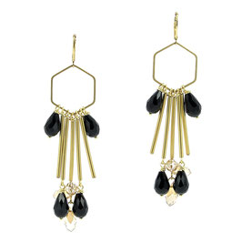 Boucles * Hexagone Big | Noir *
