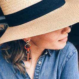 Boucles d'oreilles Lilou - Orange