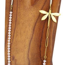 Collier *Libellule | Perles Rose Pâle*
