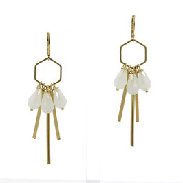 Boucles * Hexagone Small | Blanc *