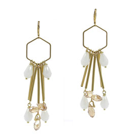 Boucles * Hexagone Big | Blanc *