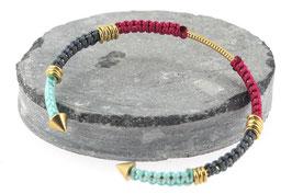 Bracelet Lola | Fushia x Gris x Bleu ciel