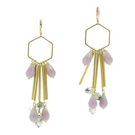 Boucles * Hexagone Big | Mauve *