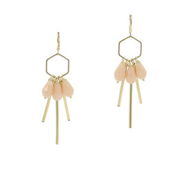 Boucles * Hexagone Small | Nude*