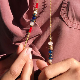 Collier *Hippie Long   Rouge*