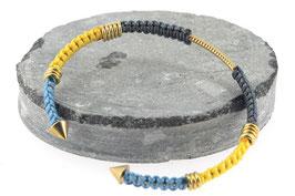 Bracelet Lola | Gris x Jaune x Bleu clair