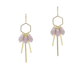 Boucles * Hexagone Small | Mauve *