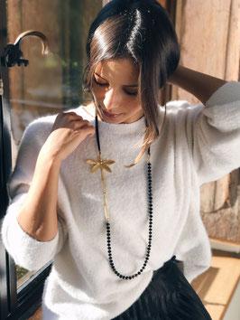 Collier *Libellule | Perles Noires*