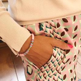 Bracelet Anya - Rose clair