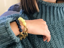 Bracelet *Maillons* | Jaune vert