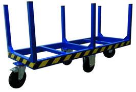 Carro transporte de tubos y perfiles largos
