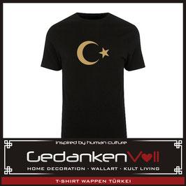 T-Shirt Wappen Türkei schwarz/gold