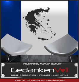 Wandtattoo Landkarte Griechenland
