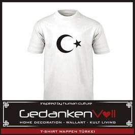 T-Shirt Wappen Türkei weiß/schwarz