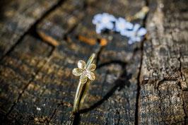 Neu Gold Vergissmeinnicht Ring