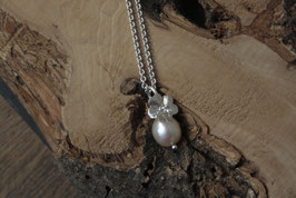 Perle mit großem Vergissmeinnicht