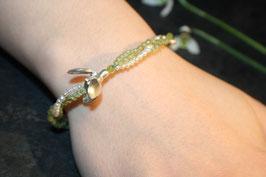 Schneeglöckchen Armband mit Peridot