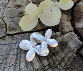 NEU Hortensien Brosche mit zwei Blüten