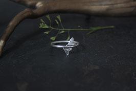 Neu Hirtentäschelkraut Ring mit zwei Herzen