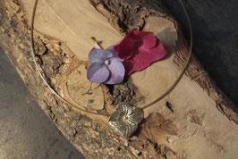 Hortensien Anhänger mit einer Blüte Gold