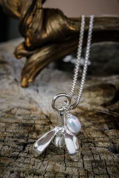Schneeglöckchen Anhänger mit Perle