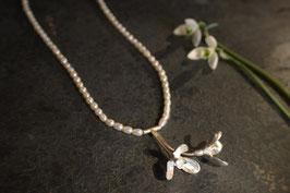 Schneeglöckchen Collier mit zwei Blüten