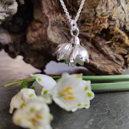 Neu Märzenbecher Anhänger mit zwei Blüten
