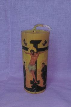 """11AQ. Свеча  """"Распятие Христа"""", большая"""
