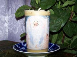 """5 А. Восковая свеча """"Пасхальная свеча молитвы с Воскресением Христа"""""""