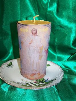 """7 А. Свеча молитвы с иконой из православной церкви """"Преображение Христа"""""""
