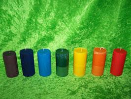 """7 AQ. Набор восковых свечей """"Семь цветов радуги"""" плюс одна универсальная"""
