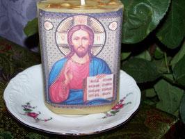 """1 A. Свеча """"Религиозная свеча молитвы с изображением иконы """"Иисус Христос с десятью заповедями"""""""""""