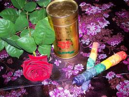 """18. Энергетизированная восковая свеча """"Свеча -7 чакр"""" для медитаций"""