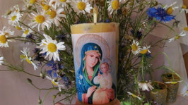 """9 A. Христианская свеча молитвы с изображением иконы """"Неувядаемый цвет"""""""""""